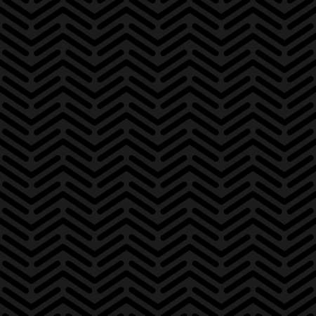 plate: Herringbone neutral seamless pattern in flat style. Tileable vector web background in black color. Stock Photo