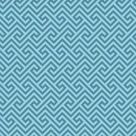 antique: Blue Classic meander seamless pattern. Greek key neutal tileable linear vector background.