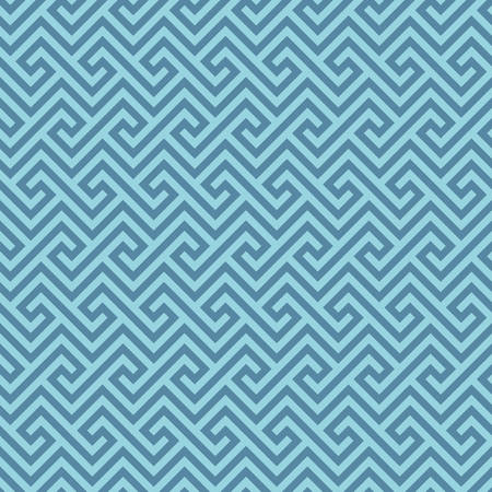 Blue Classic meander seamless pattern. Greek key neutal tileable linear vector background.