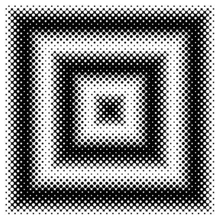forme: Black and White Halftone Squares. Vector Design Element with Half Tone Fade Effect. Monochrome spotted seamless pattern.