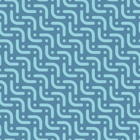 rivets: Herringbone blue seamless pattern in flat style. Tileable vector web background in blue color.