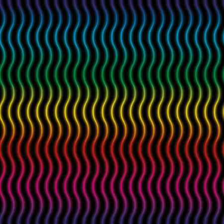 undulate: Colorful 3D Wavy lines seamless background. Multicolor seamless vector pattern for your design. Illustration