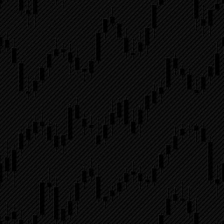 Japanse kandelaar financiële grafieken. Vector tegelbaar achtergrond voor stockexchange ontwerp.
