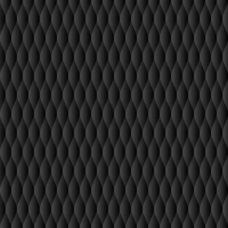 Soft quilt seamless pattern of Neutral black tile-able vector background.