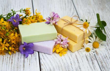 herbal  treatment - camomile, tutsan and handmade soap