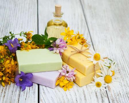 chamomilla: herbal  treatment - camomile, tutsan and handmade soap