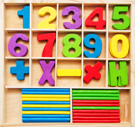 Math kids game - numbers and counting sticks