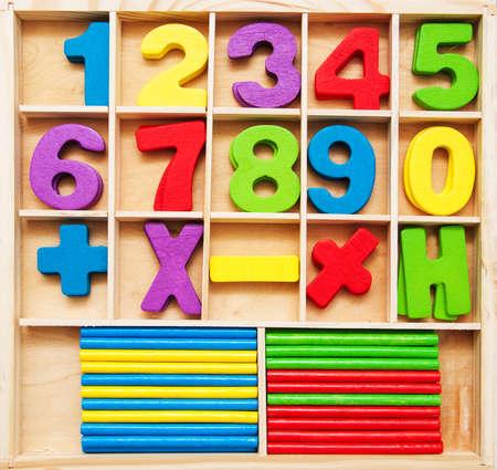 Math-kindergame - getallen en telstokken