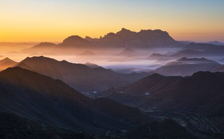 Mount Ibrahim with the first Sunrise moments south of Saudi Arabia.
