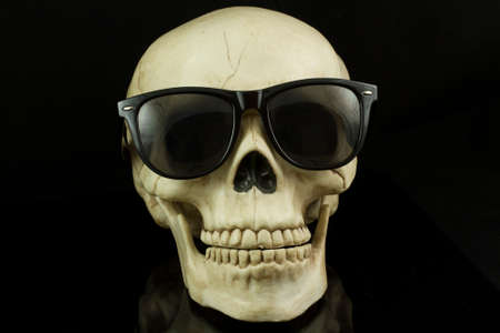 eye socket: Skull wearing Hipster glasses