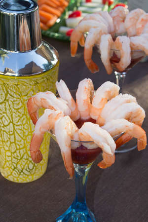 Shrimp Cocktail and Shaker