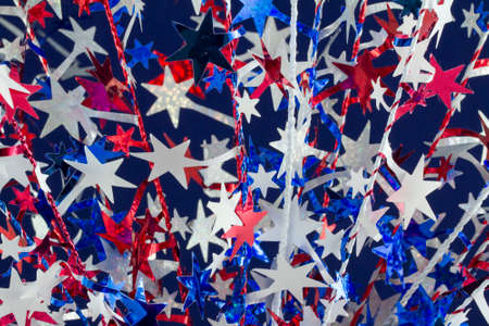 observance: Party favors and 4th of July decorations for  a holiday celebration and party