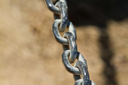 link up: Bacl steel chain link close up Stock Photo