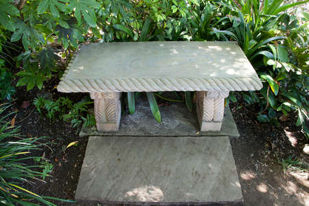 tranquility: Meditation bench in the Tranquility Gardens in Encinitas, California