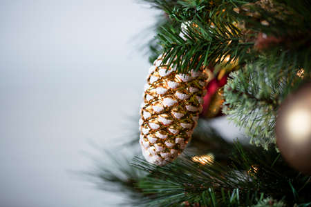 Christmas tree decorations for a holiday wish or blessing