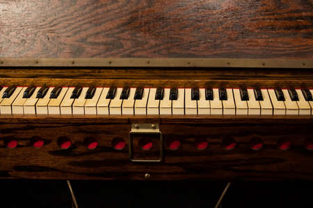 Vintage Piano and Antique Wood