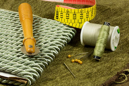 craft material: Sewing accessories and material for a craft project