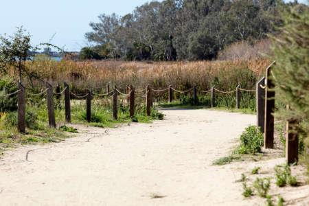 carlsbad: Lake and trail paths at the Batiquitos Lagoon in Carlsbad, California