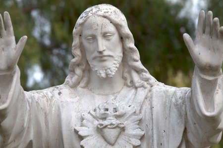san diego: Statue of Jesus Christ at a Mission in San Diego Stock Photo
