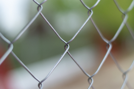 close-up of a galvanized mesh Imagens
