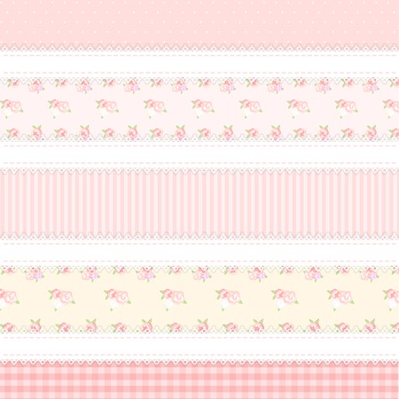 provence: shabby chic. provence style. 5 backgrounds. yellow and pink colors