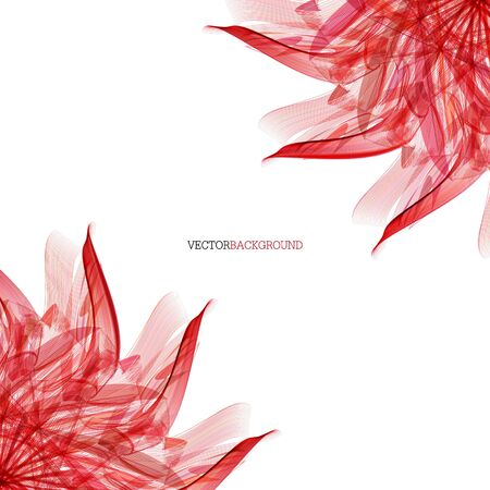 red leaves: Abstract modern floral background with red leaves