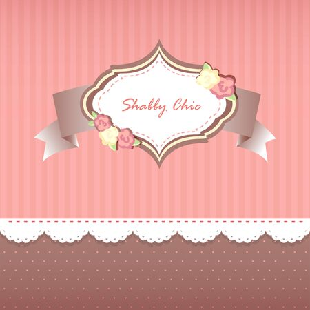 chic: shabby chic. card. swatches