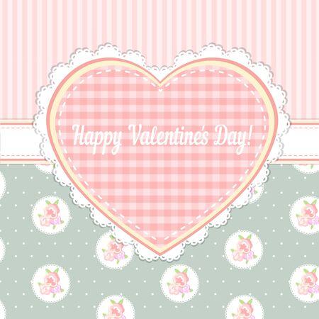 chic: shabby chic. valentines day card. Illustration