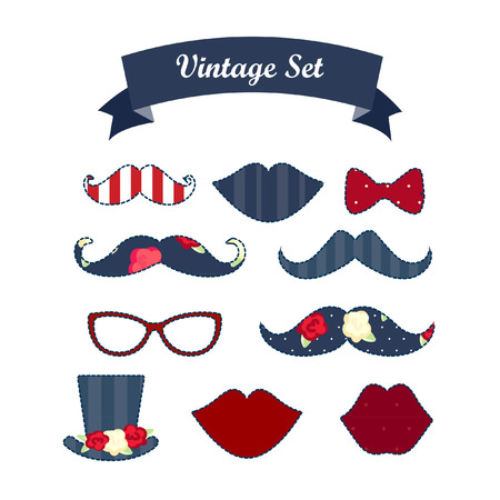 antique booth: Party Photo Props. Includes Lips , Glasses, mustaches