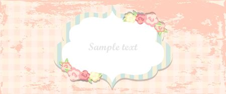 shabby chic: Cute shabby chic card or invitation design
