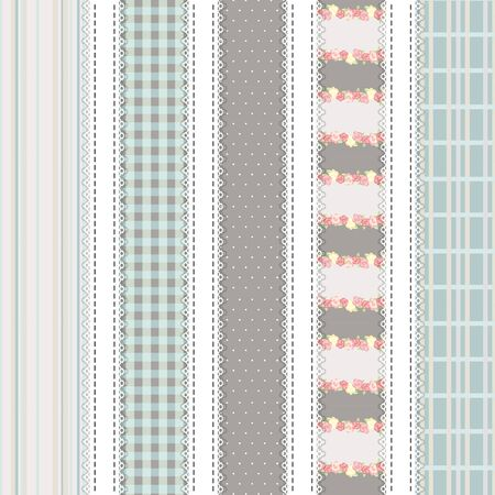 5 Pattern papers for scrapbook. gray and pistachio colors