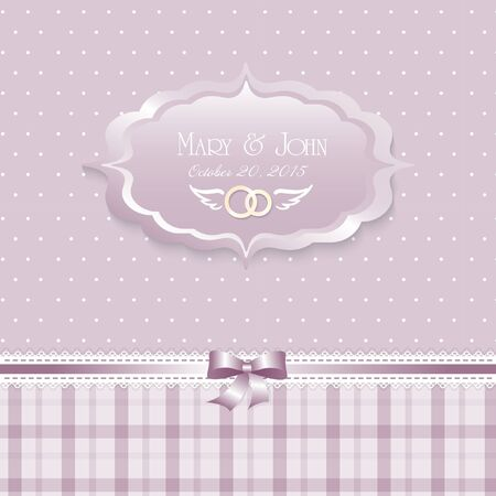 renaissance woman: Beautiful shabby chic wedding invitation. Vector illustration. Floral Save the Date or wedding invitation set. English style Illustration
