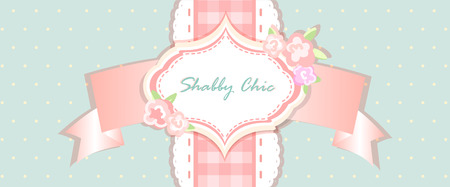 shabby chic. provence style. invitation or congratulation card. floral frame with lace. blue, yellow,pink.