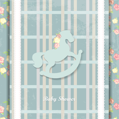 baby blue: baby shower invitation card design. eps10. blue background
