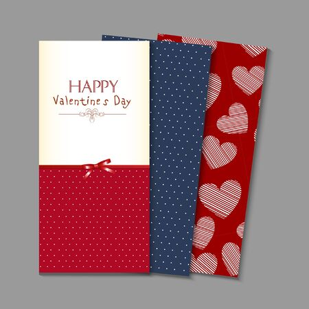 Valentines day vintage card vector background
