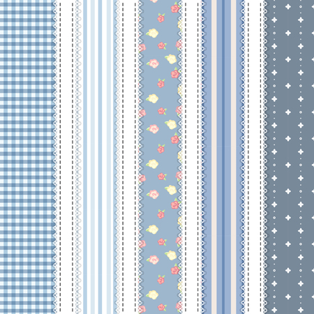 shabby chic. provence style. 5 backgrounds. blue color set