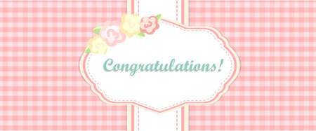 provence: shabby chic. provence style. invitation or congratulation card. floral frame. gray and pink.