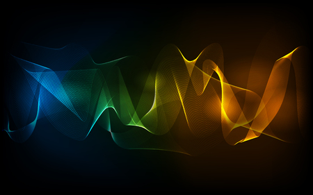 desktop background: EPS10 vector abstract line design on background. Composition has bright lights and blurry particles. desktop background Illustration
