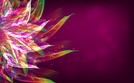 rainbow abstract: Abstract pink background, rainbow flover illustration