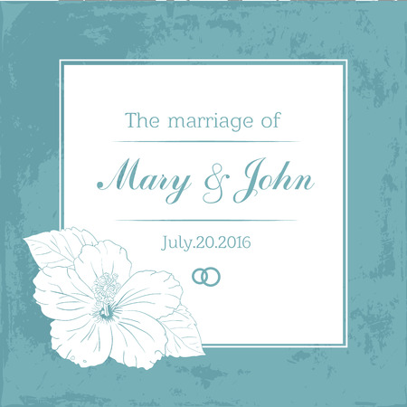 Marriage Design Template With Custom Names In Square Floral Frame ...