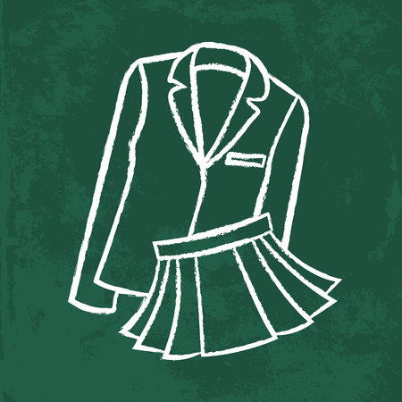 formal dressing: chalk icon. school wear line illustration. clothes Illustration