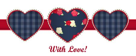 happy valentines day card. red heart on white background. vector Illustration