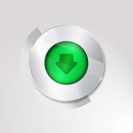 torrent: download sign icon.silver white button isolated on white background. glass surfise Illustration