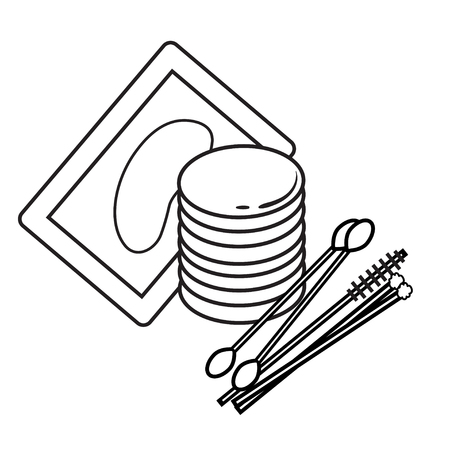 lash: hygiene icons. eyelash Vector Picture lash extentions signs. eye patches. cotton buds