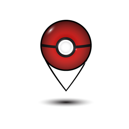 Map vector icon. Location pointer. smartphone app. reality mobile game Illustration