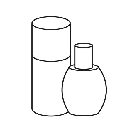 beauty products: cream bottle line icon. Cosmetic. beauty products package