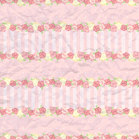 provence: shabby chic. provence style background. floral pattern. romantic swatch with rose and simple flower for you design and scrapbooking.