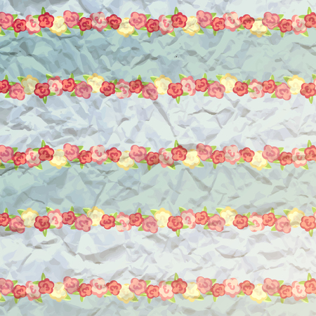 provence: shabby chic. provence style. blue background. album cover. flowers paper texture Illustration