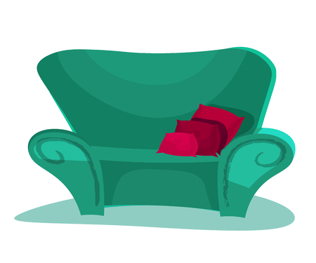 Modern isolated couch icon. Furniture design. Flat style vector illustration. Stock Photo