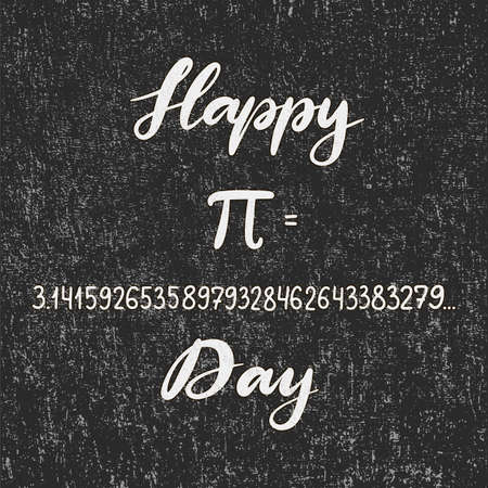 Vector illustration for Happy Pi Day. Celebrate Pi Day calligraphy. Mathematical constant. March 14th. Constant number Pi. Eps10